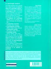 La psychologie moderne - 4ème de couverture - Format classique