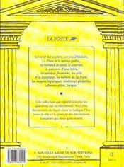 RACONTE-MOI... T.3 ; la poste - 4ème de couverture - Format classique