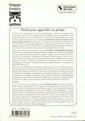 Outils pour apprendre en groupe 7eme edition t2 - 4ème de couverture - Format classique
