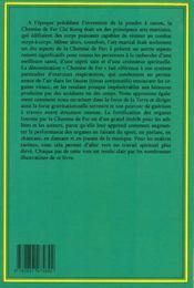 Chi kung t.1 ; la chemise de fer - 4ème de couverture - Format classique