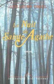 La nuit de sainte-Agathe - Couverture - Format classique