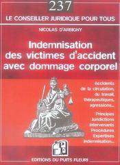 Indemnisation des victimes d'accident avec dommage corporel - Intérieur - Format classique