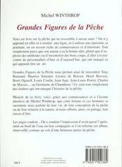 Grandes figures de la peche - 4ème de couverture - Format classique