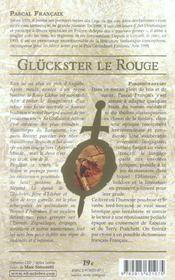 Gluckster le rouge - 4ème de couverture - Format classique