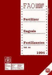 Annuaire des engrais 1994 t.44 - Couverture - Format classique