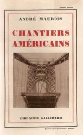 Chantiers américains - Couverture - Format classique