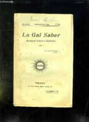 Lo Gai Saber N° 210 Janvier Febrier 1944. Revista De L Escola Occitana. - Couverture - Format classique