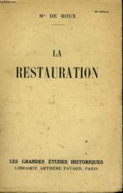 La Restauration. - Couverture - Format classique