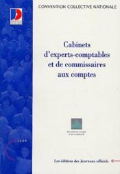 Cabinets d'experts-comptables et de commissaires des comptes - Couverture - Format classique