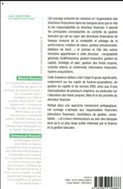 Finance et gestion dans la banque (3e édition) - 4ème de couverture - Format classique