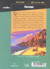 Durango - 4ème de couverture - Format classique