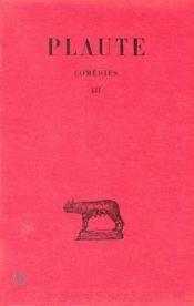 Theatre t3 cistellaria curculo epidicus - Couverture - Format classique