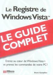 Le registre de windows vista - Intérieur - Format classique