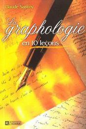 La graphologie en 10 leçons - Intérieur - Format classique