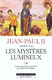 Jean paul ii medite sur les mysteres lumineux - Intérieur - Format classique