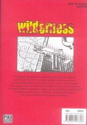 Wilderness t.1 - 4ème de couverture - Format classique