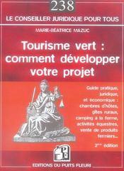 Tourisme vert : comment developper votre projet - 2eme edition - Intérieur - Format classique