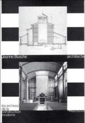Jeanne Bueche Architecte - Couverture - Format classique