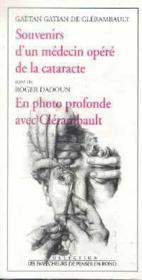 Souvenirs D'Un Medecin Opere De La Cataracte - Couverture - Format classique