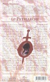 Patriarche (le)-enfants de ji t4 - 4ème de couverture - Format classique