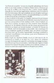 Portes de la lumiere - 4ème de couverture - Format classique