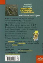 Enquête au collège T.5 ; P.P. Cul-Vert et le mystère du Loch Ness - Couverture - Format classique
