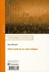 Petit traité de la vraie religion - Intérieur - Format classique