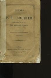 Oeuvres De P.L. Courier. - Couverture - Format classique