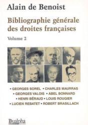 Bibliographie generale des droites francaises - tome2 - Couverture - Format classique