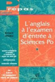 L'anglais à l'examen d'entrée à sciences po - Couverture - Format classique