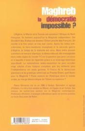 Maghreb, la démocratie impossible ? - Couverture - Format classique