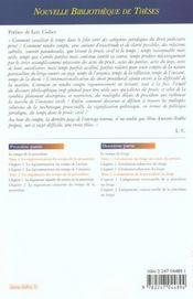Le temps et le proces civil - nouvelle bibliotheque de theses - 4ème de couverture - Format classique