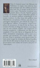 La guerre des mages T.1 ; le griffon noir - 4ème de couverture - Format classique