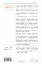Masculin/feminin ii - dissoudre la hierarchie - 4ème de couverture - Format classique