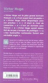 Victor Hugo - 4ème de couverture - Format classique