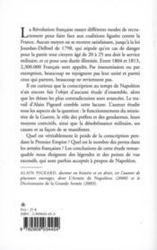 La conscription au temps de Napoléon 1798-1814 - 4ème de couverture - Format classique