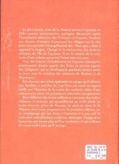 Les Indiens De La Sinnamary. Journal Du Pere Jean Dela Mousse En Guyane (1684-1691) - 4ème de couverture - Format classique