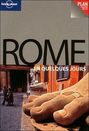 Rome en quelques jours - Couverture - Format classique
