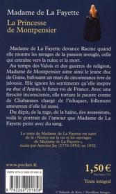 La princesse de Montpensier - 4ème de couverture - Format classique