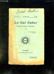 Lo Gai Saber N° 169 Novembre 1938. - Couverture - Format classique