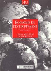 Economie Du Développement. Les Théories, Les Expériences, Les Perspectives - Intérieur - Format classique