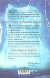 Les chevaliers d'Emeraude T.3 ; piège au royaume des ombres - 4ème de couverture - Format classique