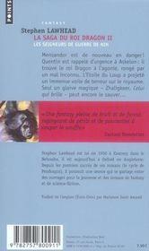 La saga du roi dragon t.2 ; les seigneurs de guerre de nin - 4ème de couverture - Format classique