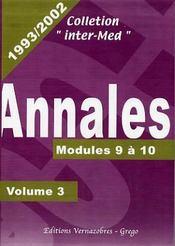 Annales 1993-2002 ; modules 9 & 10 - Couverture - Format classique
