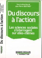 Du Discours A L'Action Lessciences Sociales ... - Couverture - Format classique
