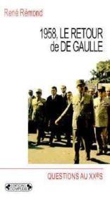 1958, le retour de De Gaulle - Couverture - Format classique