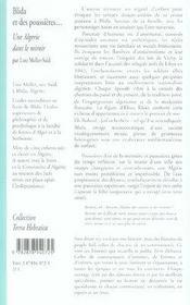 Blida et des poussières ; une algérie dans le miroir - 4ème de couverture - Format classique