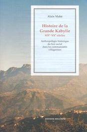 Histoire de la grande Kabylie - Intérieur - Format classique