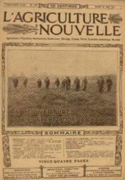 L'agriculture nouvelle, n°1167, samedi 30 aout: A l'ouverture de départ pour la chasse - Couverture - Format classique