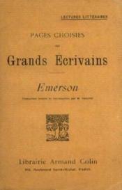 Pages choisies des grands écrivains - Couverture - Format classique